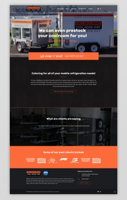 Melbourne Cool Room Hire website design