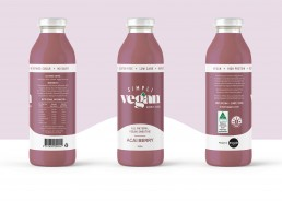 Acai berry packaging graphic design