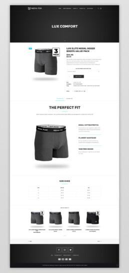 Clothing Business Website Design