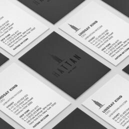 Deboss business card design
