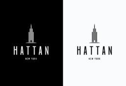 Hattan new York Logo Design