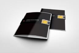 Spot gloss brochure design